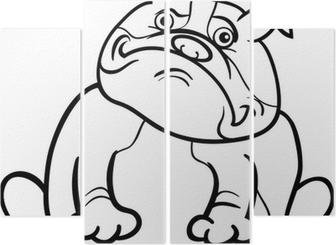 Coloriage Bouledogue Anglais.Bande Dessinee Bulldog Anglais De Chien Pour Livre De Coloriage