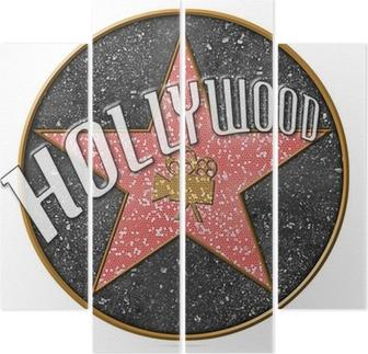 Quadriptyque Etoile hollywood