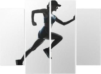 Sticker Femme exerçant Zumba Fitness silhouette de danse • Pixers® - Nous  vivons pour changer 60d68ecc166