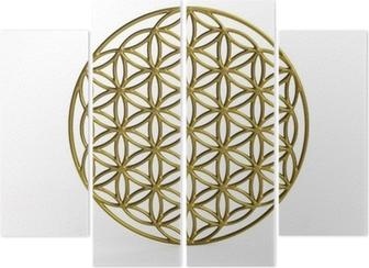 Tableau Sur Toile Symbole Sacre Fleur De La Vie En 3d Pixers