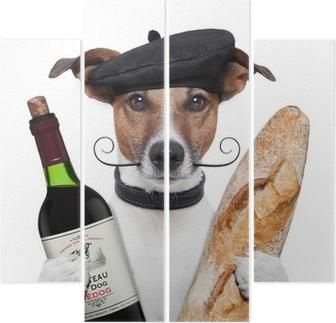 Quadriptyque Toutefois, le rapport français baguette vin