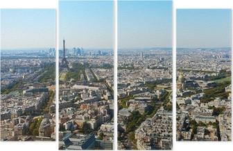Quadriptyque Vue aérienne de Paris