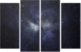 Quadrittico Blu spazio sfondo