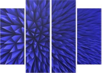 Quadrittico Estratto Poligon caotico sfondo blu