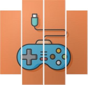 Quadrittico Icona di vettore del controller di gioco