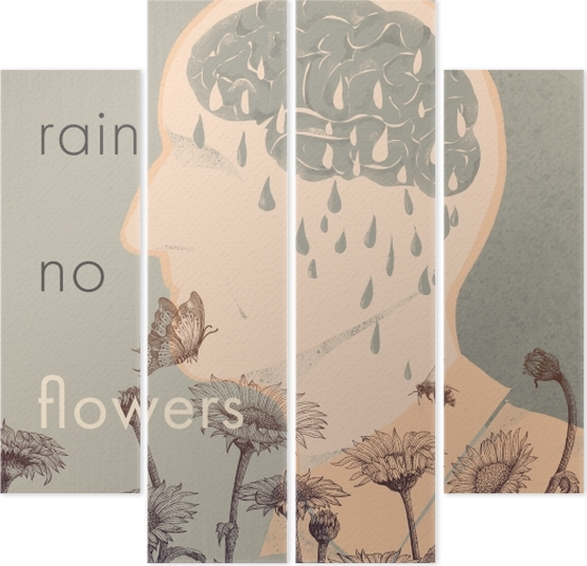 Quadrittico No rain, no flowers -