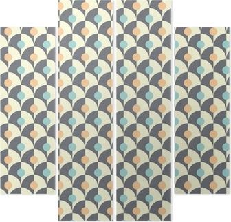 Quadrittico Seamless semplice motivo geometrico retrò di stile classico