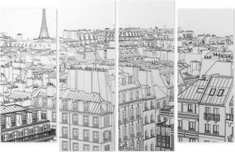 Quadrittico Tetti di Parigi