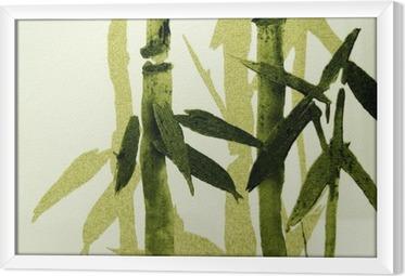 Quadro com Moldura Bamboo texture
