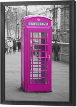 Quadro com Moldura Cabine de telefone em Londres
