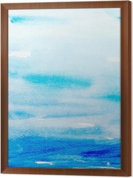 Quadro com Moldura color strokes watercolor painting art
