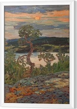 Quadro com Moldura Helmer Osslund - Afton i Ångermanland