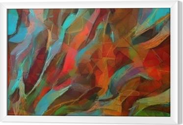 Quadro com Moldura Impressão de cartaz de parede de desenho de mão. arte abstrata. pintura a óleo. estilo impressionista. bom para obras de arte impressas em tela ou papel. arte na moda moderna. pictórica contemporânea. pinceladas de tinta reais.