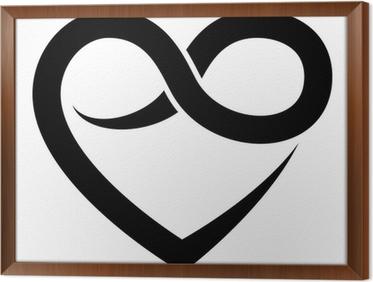 Mural de parede infinity heart symbol forever vector u2022 pixers
