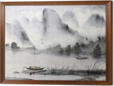 Quadro com Moldura Pintura chinesa