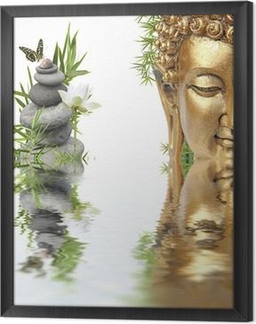 Quadro com Moldura reflets de Bouddha