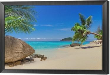 Quadro com Moldura Tropical beach scenery in Thailand