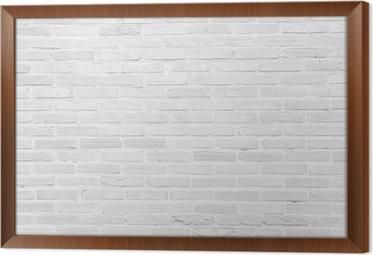Quadro com Moldura White grunge brick wall texture background