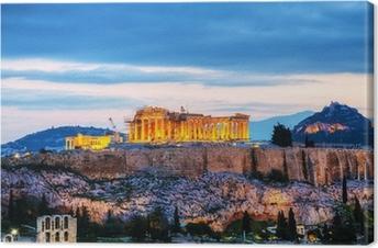 Quadro em Tela Acropolis à noite, após o por do sol
