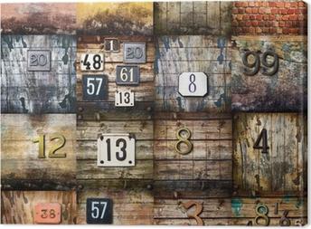 Quadro em Tela arte urbana collage