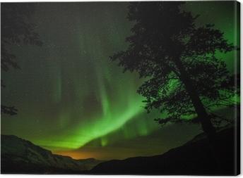 Quadro em Tela Aurora Borealis (Northern lights) in Sweden