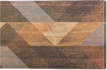 Quadro em Tela Azulejos com formas geométricas