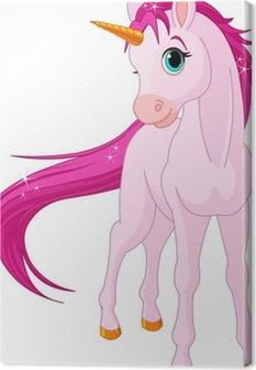 Quadro em Tela Baby unicorn