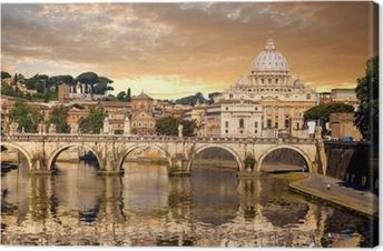 Quadro em Tela Basilica di San Pietro with bridge in Vatican, Rome, Italy