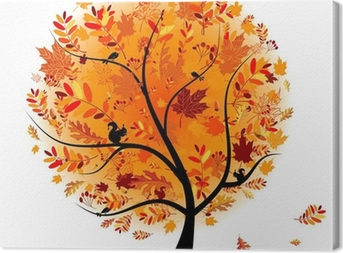 Quadro em Tela Beautiful autumn tree for your design