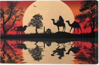 Quadro em Tela Bedouin camel caravan