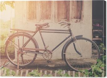Quadro em Tela Bicicleta do vintage ou parque bicicleta velha do vintage na casa de parede de idade.