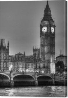 Quadro em Tela Black and White photo of Big Ben, London, United Kingdom