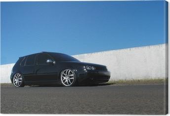 Quadro em Tela Black Car