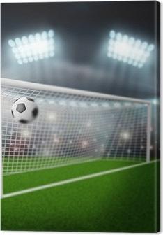 Quadro em Tela Bola de futebol voa para o gol