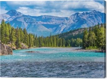 Quadro em Tela Bow river, banff, alberta, canada