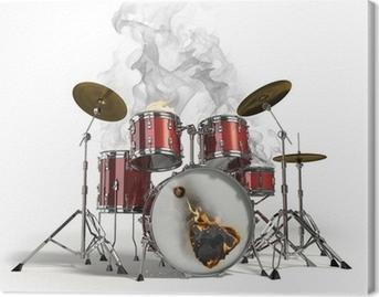 Quadro em Tela Burning drums