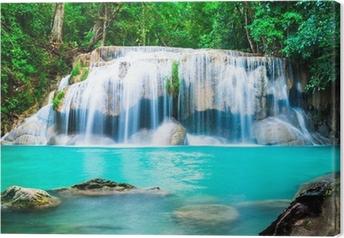 Quadro em Tela Cachoeira na selva na província de Kanchanaburi, Tailândia