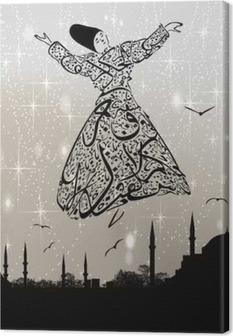 Quadro em Tela calligraphy dervish and istanbul mosques