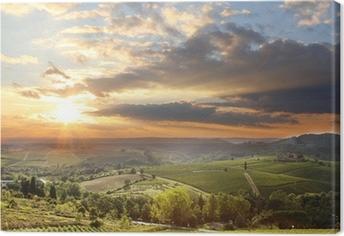 Quadro em Tela Chianti vineyard landscape in Tuscany, Italy