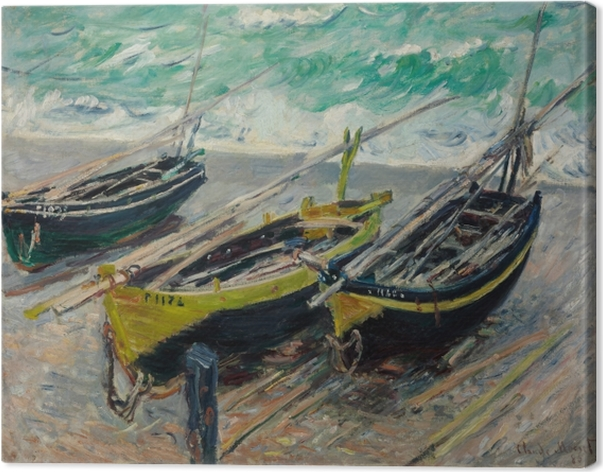 Quadro em Tela Claude Monet - Três barcos de pesca - Reproduções