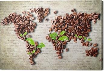 Quadro em Tela Coffee around the world