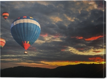 Quadro em Tela Colorful hot air balloon