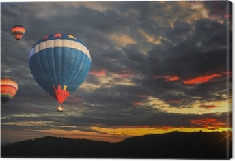 Quadro em Tela Colorful hot air balloon