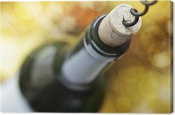 Quadro em Tela Cork screw and wine bottle