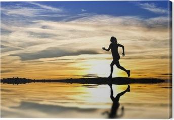 Quadro em Tela corriendo por la orilla del lago