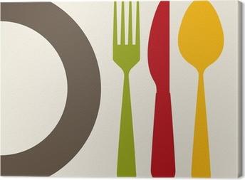 Quadro em Tela cutlery design