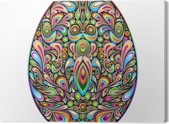 Quadro em Tela Easter Egg Psychedelic Art Design Uovo di Pasqua Ornamentale