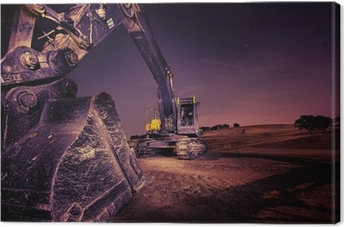 Quadro em Tela Excavator