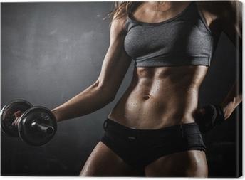 Quadro em Tela Fitness with dumbbells
