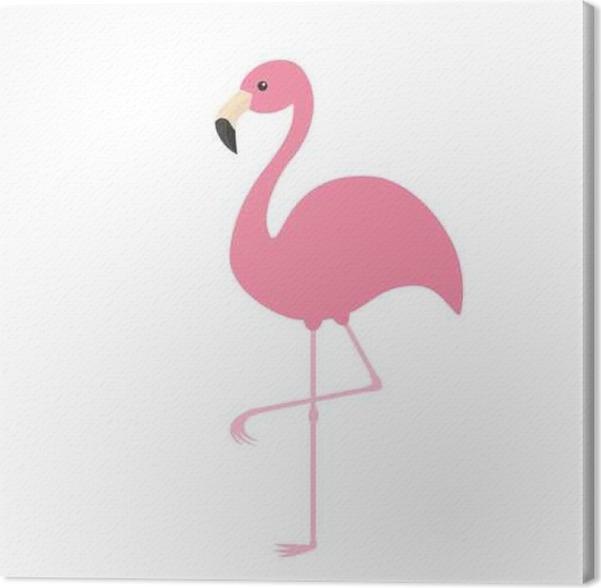 quadro em tela flamingo rosa pássaro tropical exótico recolha de